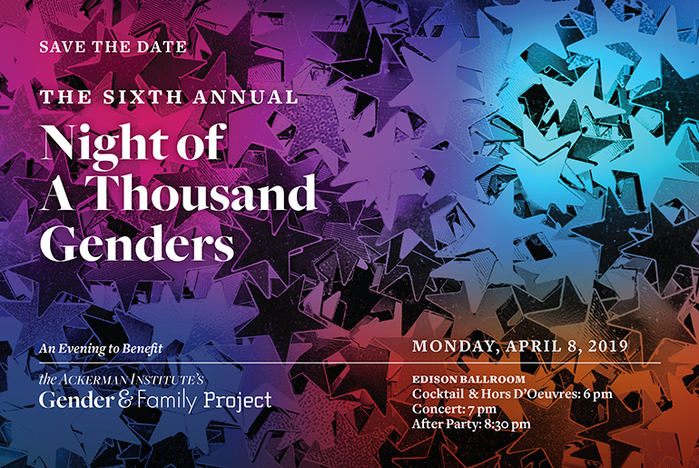 Gender & Family Project Night of 1000 Genders 2018 Save the Date
