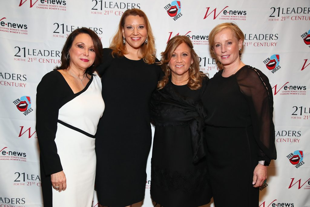Gisselle Acevedo, Leslie Roberts, Debbie Werner and Martha Fling the 19th Annual 21 Leaders for the 21st Century Gala